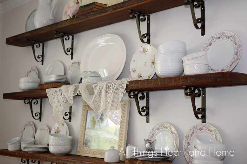 ~Rustic Shelves in the Dining Room~