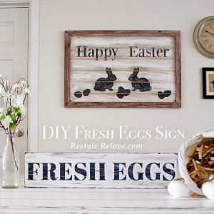 Easter & Spring Decorations! And A Shabbilicious Link Up!