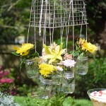 hanging-mason-jar-flower-chandelier