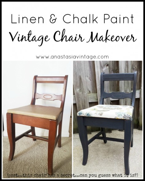 Linen & Chalk Paint Vintage Chair Makeover