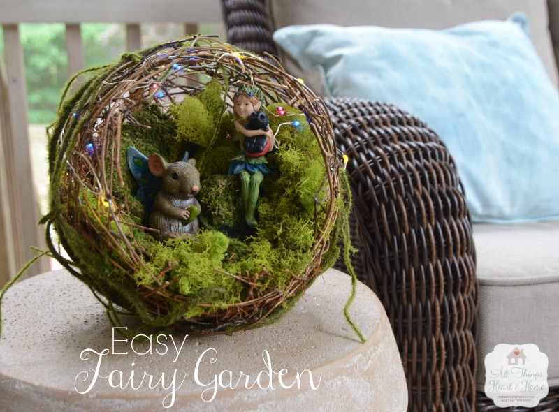 Easy Fairy Garden with TEXT