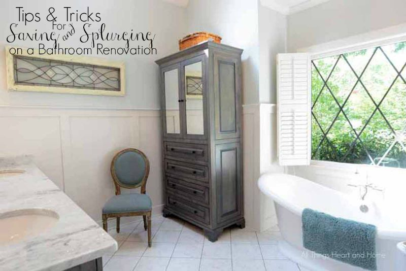Bath RemodelTips And Tricks For Saving And Splurging All Things - Little bathroom remodel