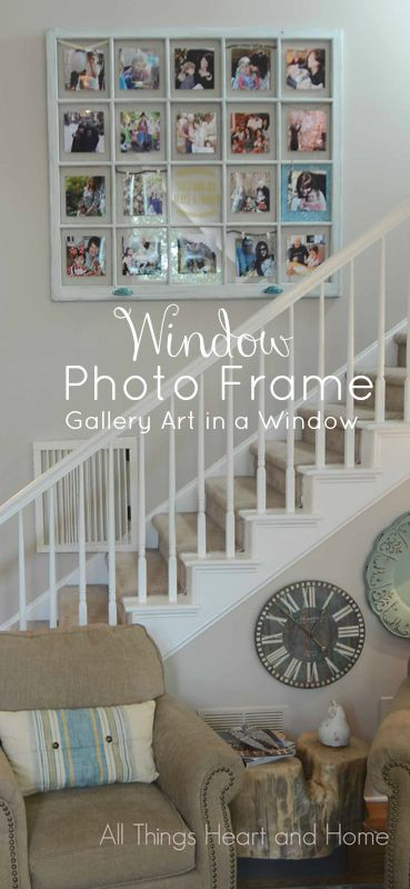 Diy Window Photo Frame All Things Heart And Home