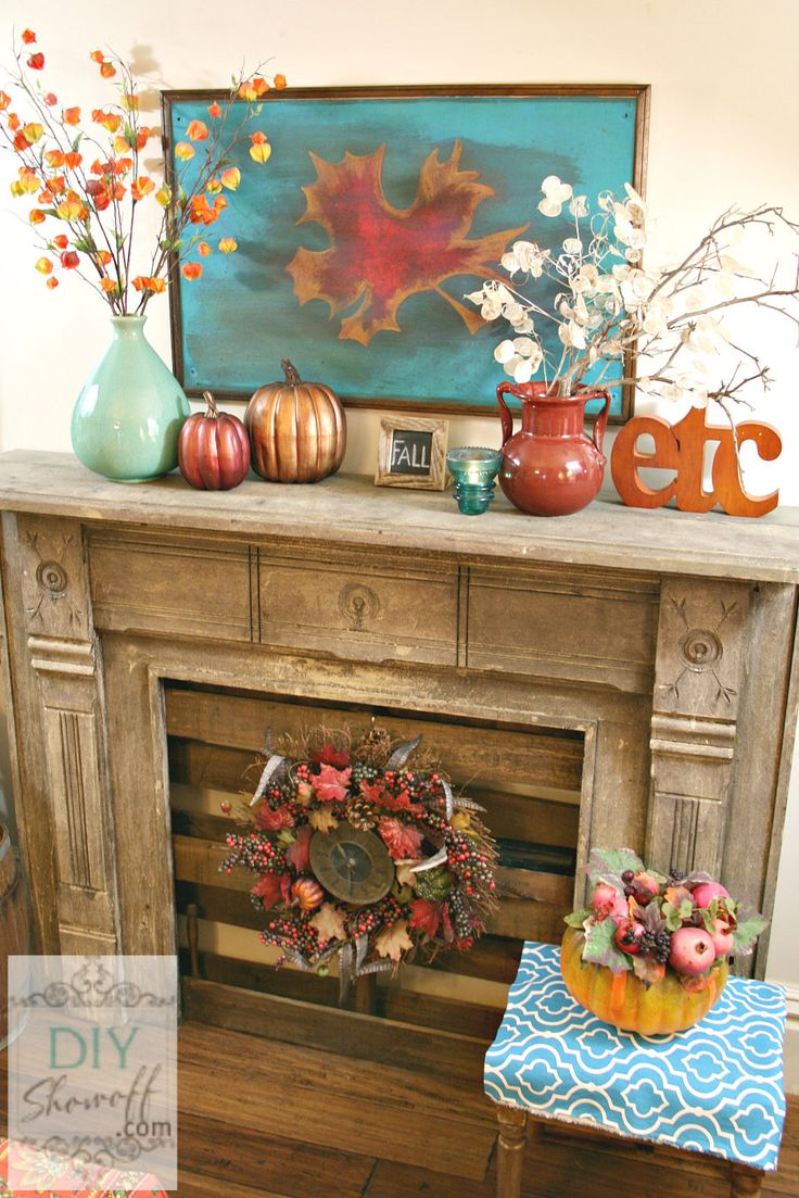 Fall Decorating With Teal All Things Heart And Home