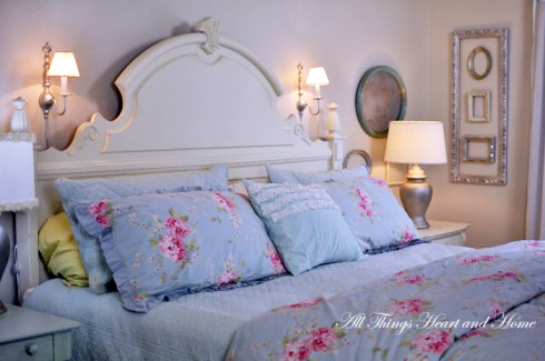 Decorating Over The Bed - All Things Heart and Home