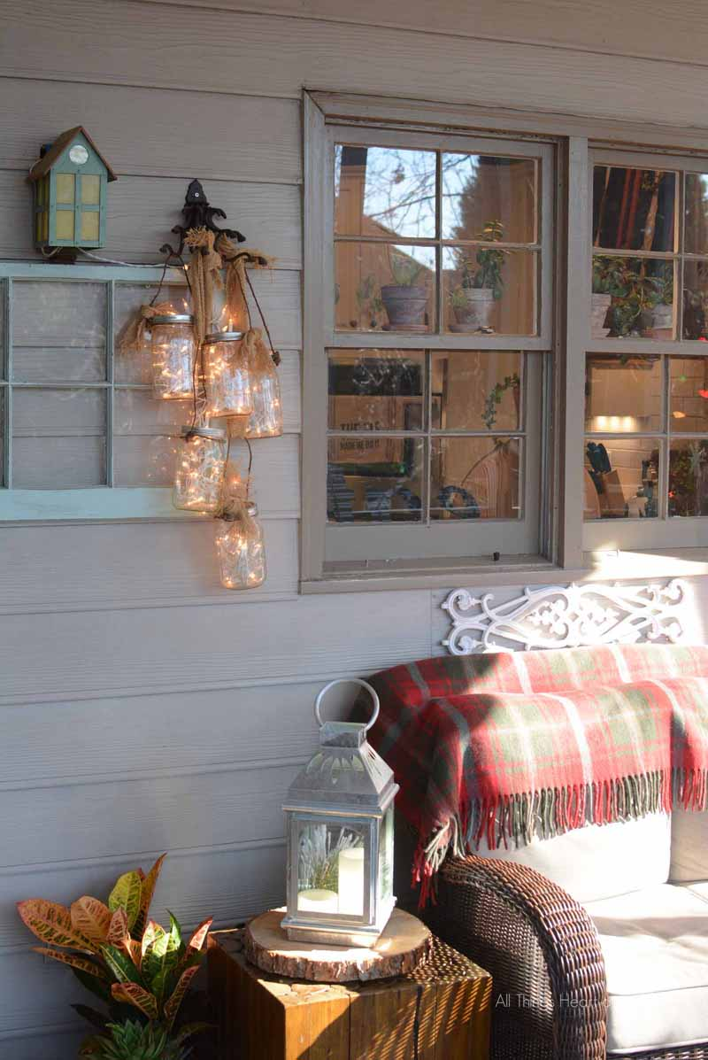 Diy mason jar light all things heart and home christmas on the porch arubaitofo Image collections