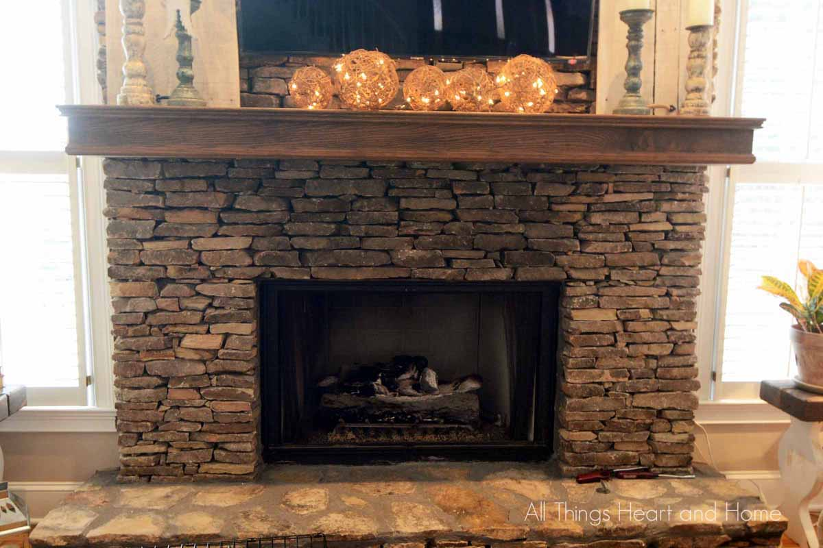 Fireplace Makeover Part 1 All Things Heart And Home