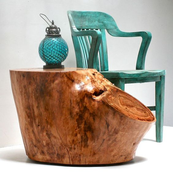 tree stump table