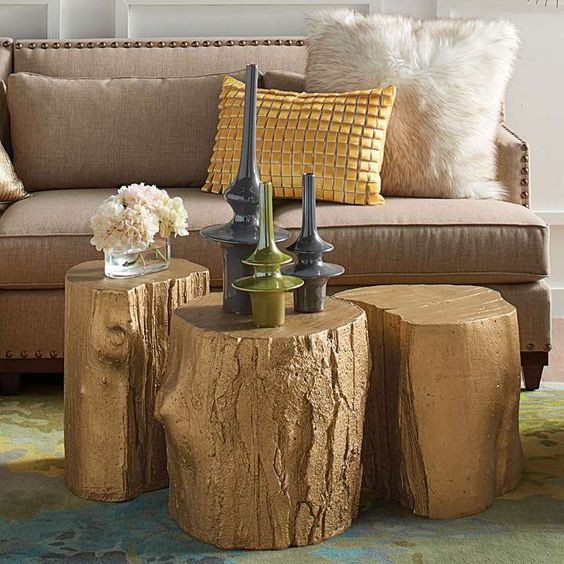 Tree Stump Table With Casters All Things Heart And Home