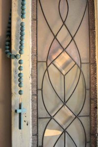 Dyed Wood Rosary & thoughts on when God says no…