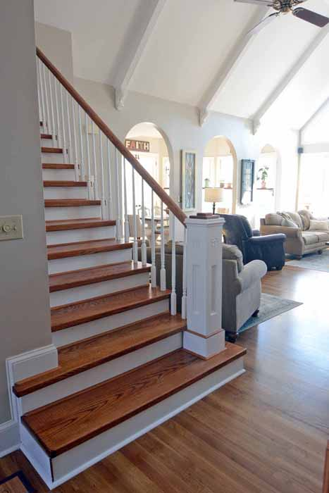 After Building The Stairs, Getting A New Rail And Spindles And Building The  Newel Post, The Stair Makeover Cost About $1000.00u2026