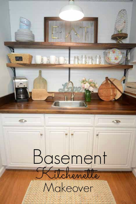 Basement Kitchenette Makeover All Things Heart And Home