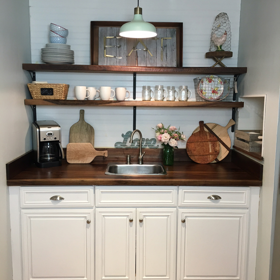 basement kitchenette makeover - all things heart and home