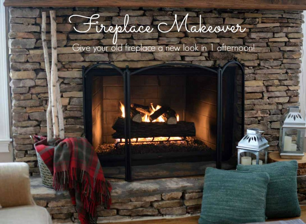 It's easy to give you old fireplace a facelift!