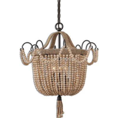 Farmhouse to french lighting my faves all things heart for Natural wood chandelier
