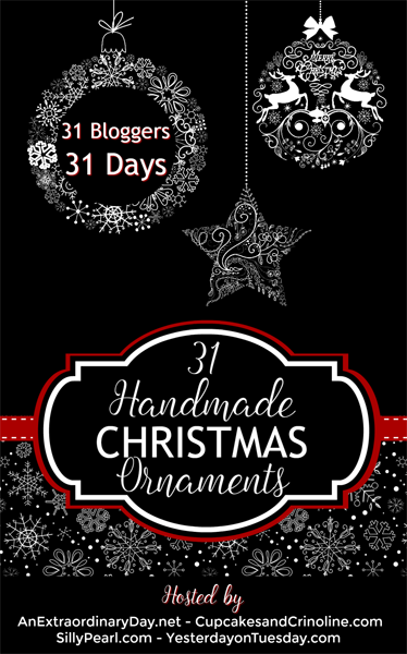 31 days of handmade christmas ornaments