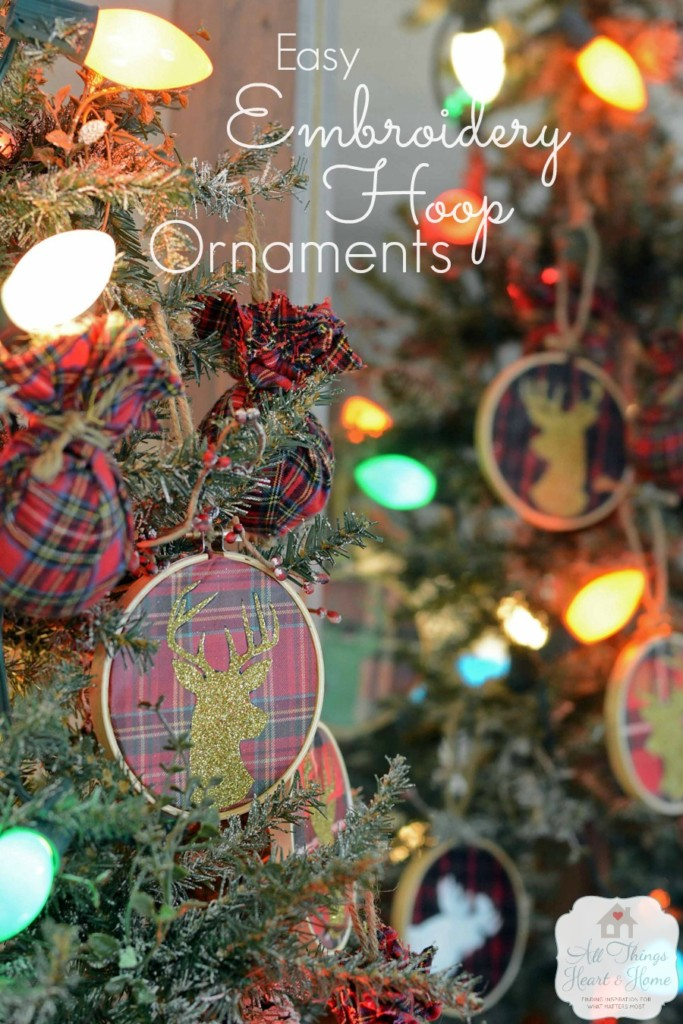 Easy Embroidery Hoop Ornaments