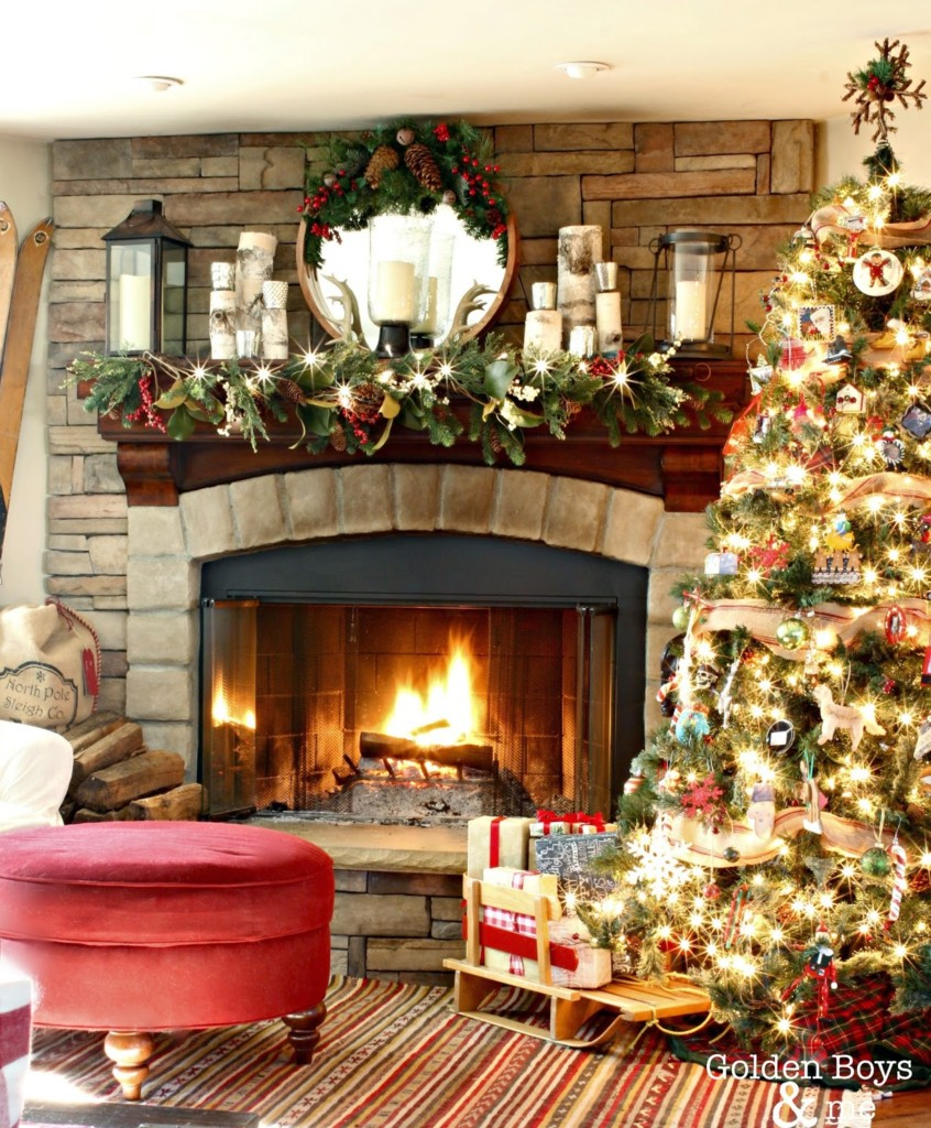 stone fireplaces decorated for christmas all things heart and home