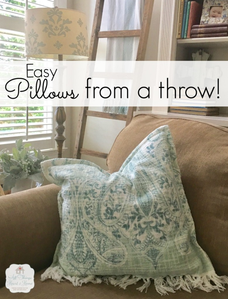pillow from a throw