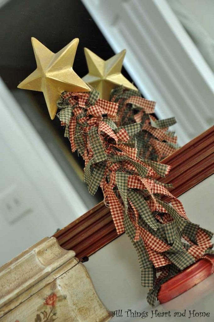 Cute Christmas Trees From Fabric Scraps All Things Heart And Home