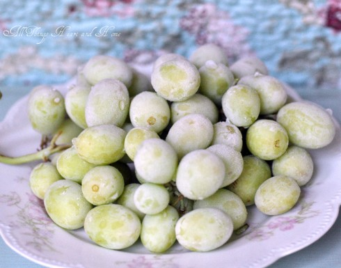 Frozen Bunch of Grapes