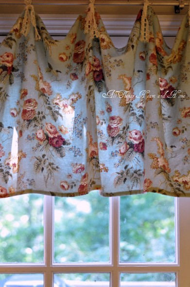 Curtains with Emma's Garden fabric