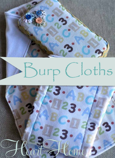 dd7253996 Easy to Make Burp Cloths! - All Things Heart and Home
