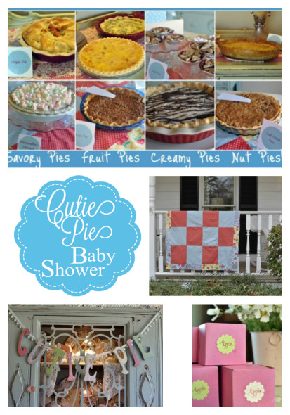 cutie pie baby shower collage