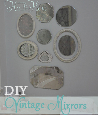 DIY Anthro Inspired Vintage Mirrors