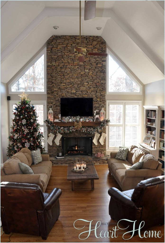 Christmas in the den all things heart and home - How to decorate my home ...