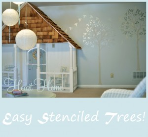 Stenciling in the Playroom & A Giveaway from Cutting Edge Stencils!!!