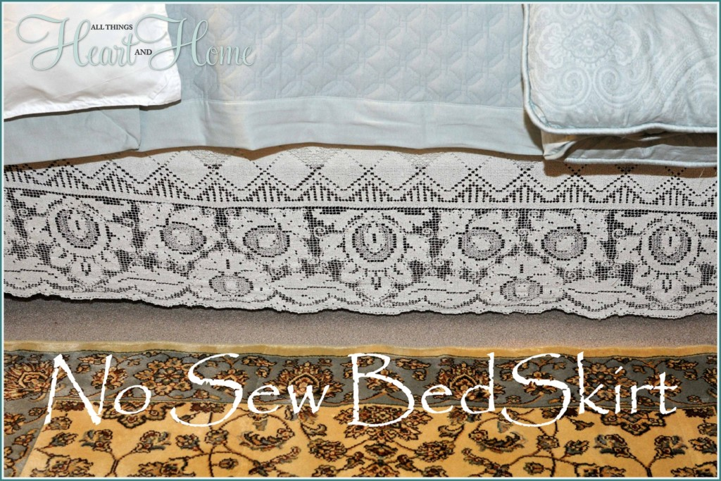 No Sew Bed Skirt All Things Heart And Home