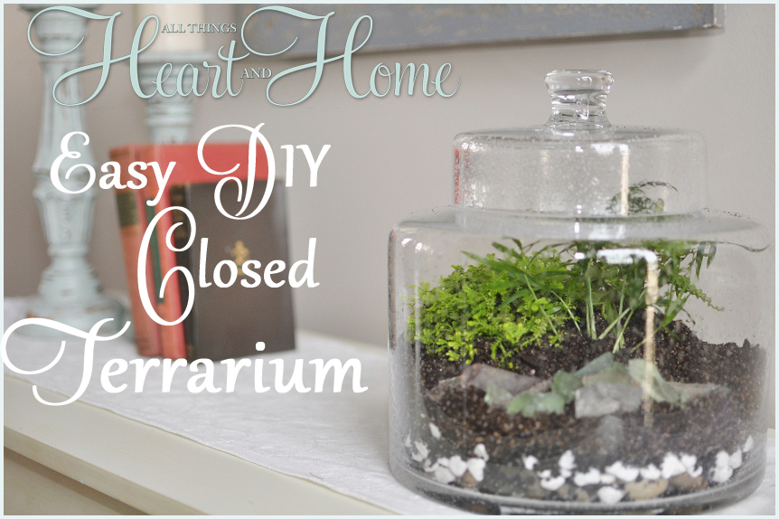 Easy Diy Closed Terrarium All Things Heart And Home