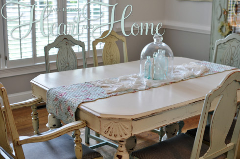 Recovering Farm Table Chairs All Things Heart And Home Saveenlarge Distressed Dining