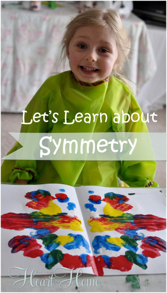 teaching kids about symmetry with paint