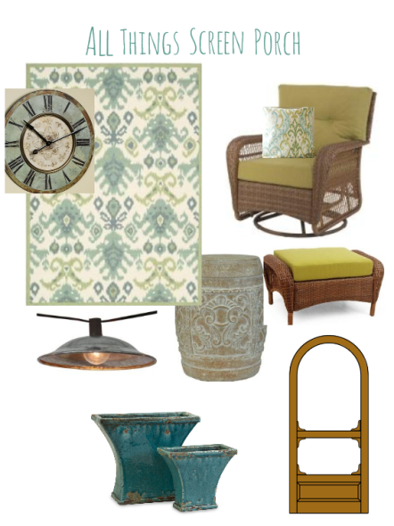 inspiration board for screen porch