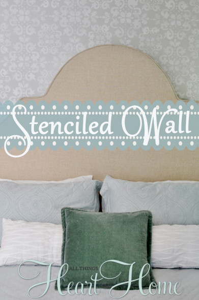 stenciled wall