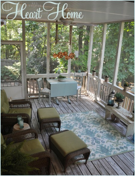 screen porch makeover