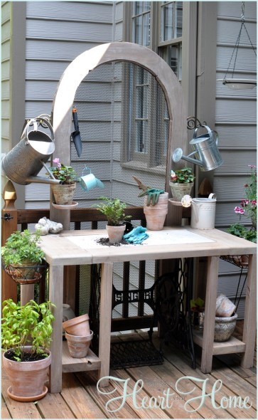 DIY Potting Bench and Serving Table