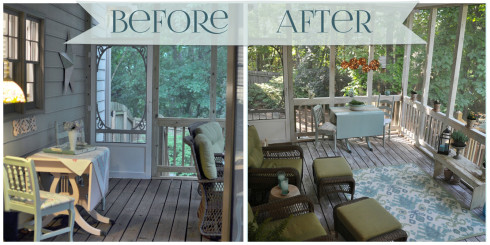 porch makeover before and after