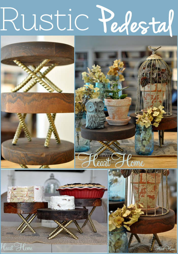 Diy Rustic Wood Pedestals All Things Heart And Home