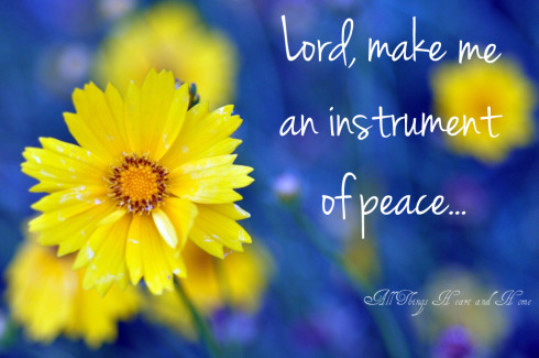 make me an instrument of peace