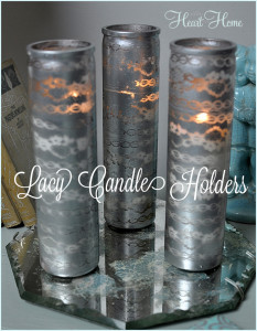 DIY Painted Glass Candle Holders