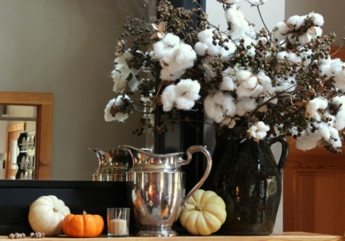 Fall Decorating With Natural Elements Cotton Branches All Things
