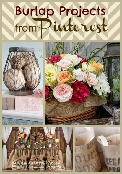 Burlap Projects From Pinterest All Things Heart And Home