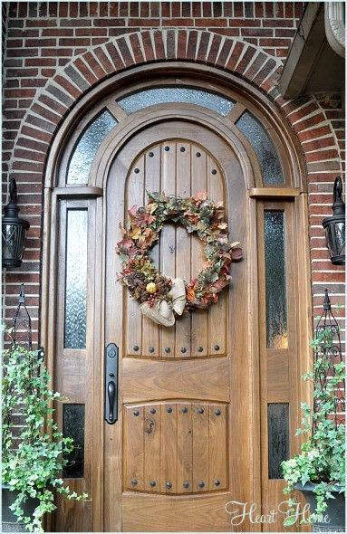 We Hung The Wreath With A 3 M Command Hook Which Worked Great, U0027cause There  Will Be No Nails In This Door!