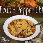 3 bean 3 pepper chili