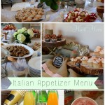 Italian Appetizer Menu