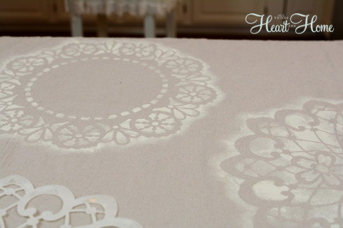 stenciled drop cloth