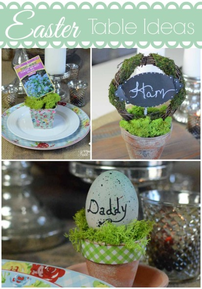 Easter table ideas Collage